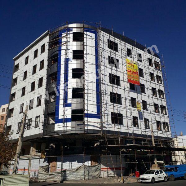 پروژه ساختمان تجاری اداری محمدشهر کارفرما اقای مهندس قاسمی