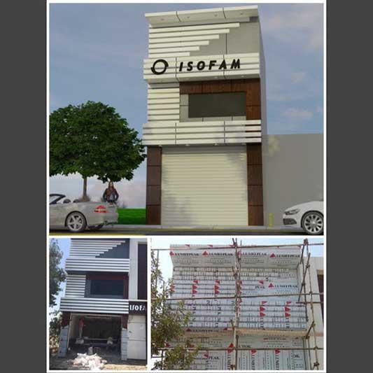 طراحی و اجرای ساختمان مدرن ایزوفام شهرک صنعتی دودانگه